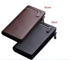 Men's Wallet Men's Long Wallet Men's Wallet Long Zipper Clutch Wallet Trendy Mobile Phone Bag Wallet Men