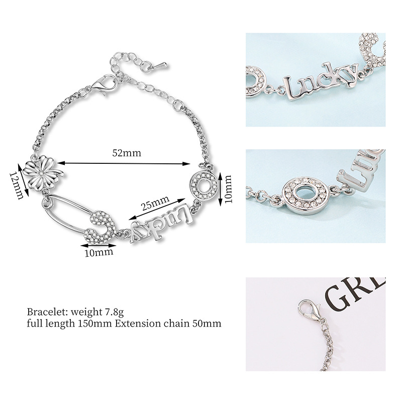 Alloy Fashion Geometric bracelet  (61186369) NHXS2110-61186369