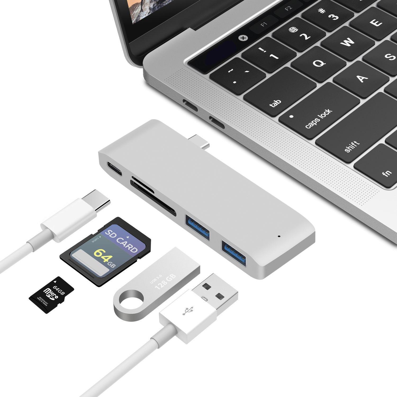 macbook集线器hub转换器USB-C转HDMI分线器type-c扩展坞 读卡器