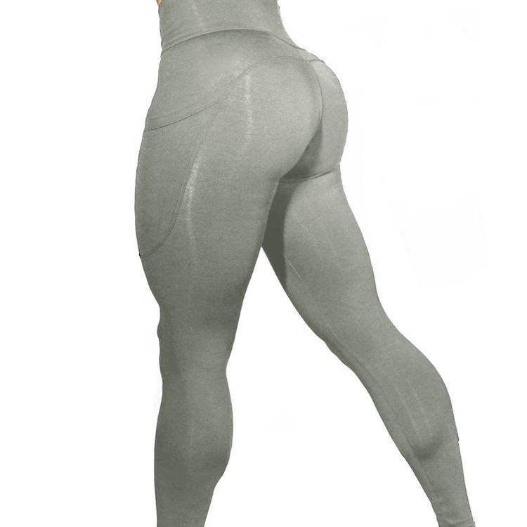 solid color high stretch high waist fitness yoga pants NSLX8992
