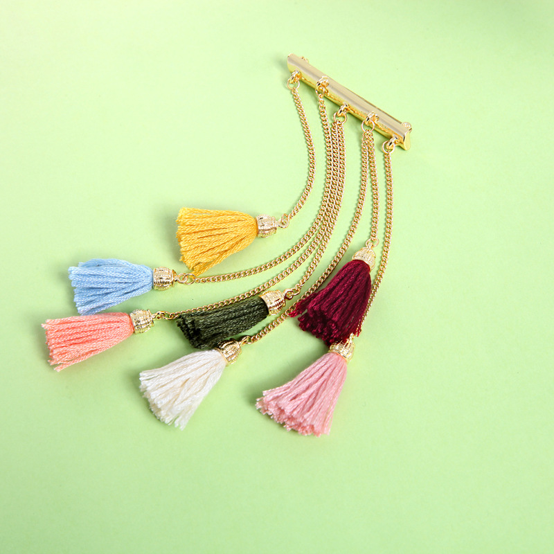 Alloy Fashion Tassel brooch(Photo Color) NHQD5083-Photo Color