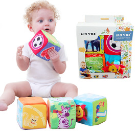 JJOVCE infant early education early education cloth building blocks baby cloth plush cognitive learning building blocks toys