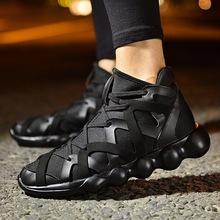 夏季高帮帆布鞋男学生韩版潮流男鞋子百搭潮鞋透气板鞋嘻哈休闲鞋