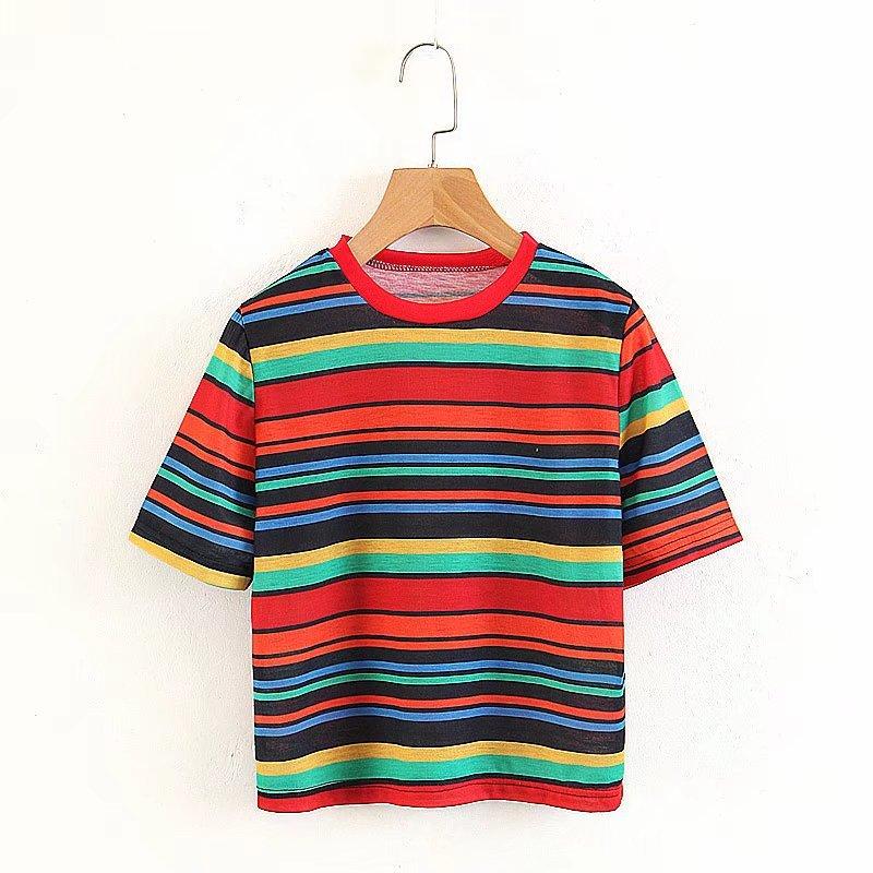Cotton FashionT-shirt(Picture color -S) NHAM2218-Picture color -S