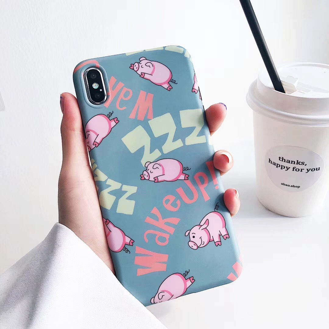 Cartoon cute small ball iphone6 ​​mobile phone shell iphone7/8plus/X matte soft silicone anti-fall female models