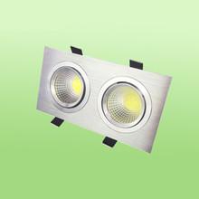 天花燈 COB射燈 方形雙頭8*16 10*20 5w7W拉絲銀白色黑色廠家直銷