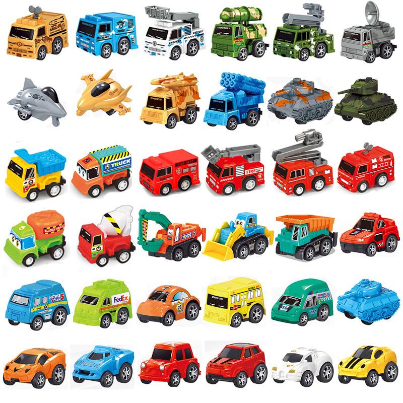 回力车工程车批发宝宝迷你小汽车儿童玩具车仿真汽车模型益智玩具