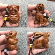 木雕批发十二生肖手把件实木雕刻把玩件木质红贵宝工艺品小礼品