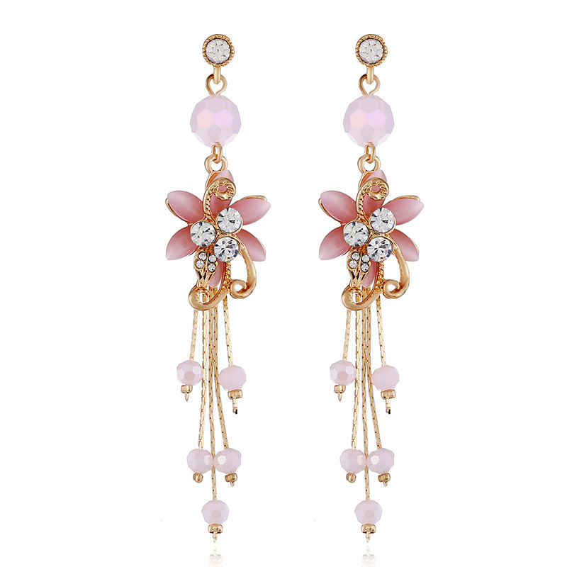 Alloy Fashion Flowers earring  white NHVA5120white