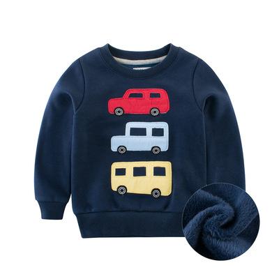 秋款童装2018男童卫衣抓绒 儿童秋装长袖中小童圆领套头一件代发