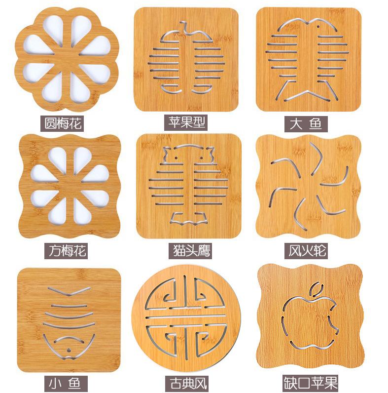 木质卡通隔热垫餐桌垫锅垫创意可爱垫子茶杯垫碗垫杯垫
