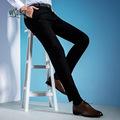 新款男士职业装抗皱免烫西裤男 商务中青年黑色西服正装长裤子潮