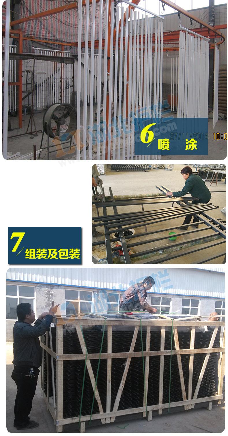 周口铁艺锌钢大门生产工艺流程
