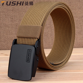 TUSHI youth outdoor sports nylon belt canvas belt male young students simple automatic belt buckle