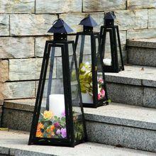 跨境中式手提戶外大型玻璃鐵藝風燈燭臺軟裝裝飾戶外擺件工藝馬燈