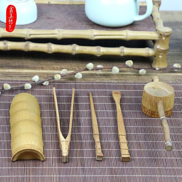 厂家供应 优质天然竹茶具 茶具套装,竹茶勺,竹茶漏