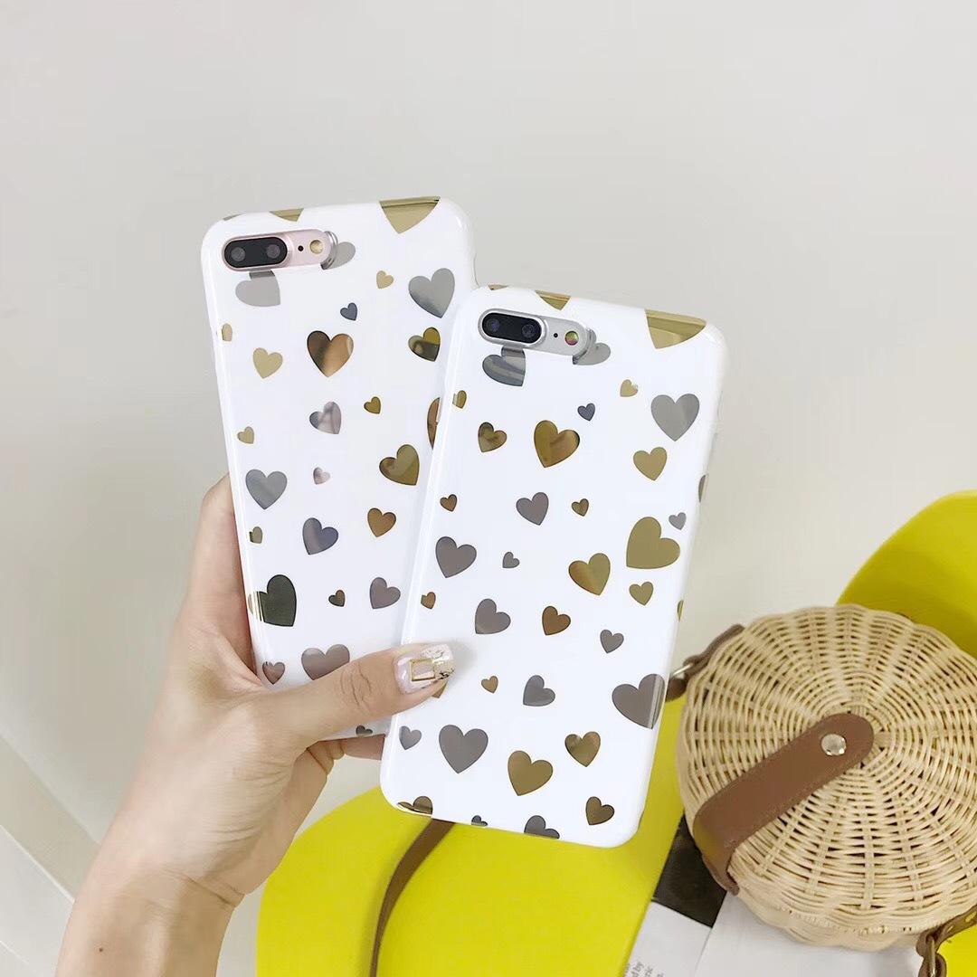 Korea ins wind electroplating letters love iphoneX mobile phone shell creative tpu apple imd mobile phone case