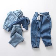 Quần trẻ em mùa hè quần muỗi cao bồi 2018 mới vừa và nhỏ thời trang trẻ em quần jeans ống rộng nhẹ Quần jean