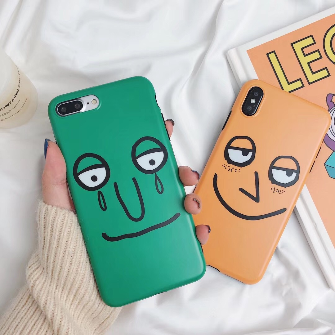 Cute cartoon expression for 6splus mobile phone shell iIXR/7PLUS/8Plus couple soft silicone anti-fall sleeve