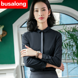 Spring, summer, autumn and winter long-sleeved white shirt ladies professional work clothes large size officially installed ol 820 plus velvet