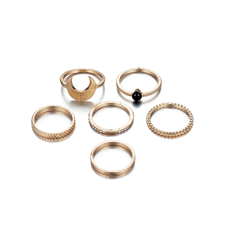 Fashion alloy-plated combination ring set NHOT134024