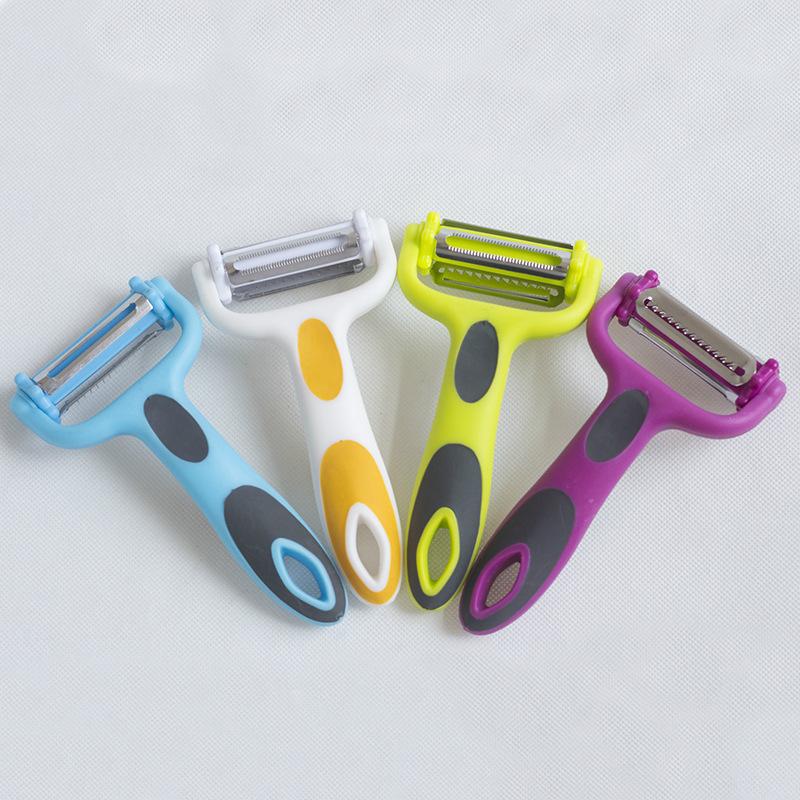 不锈钢瓜刨 创意三合一削皮器  多功能水果刨刀 厨房刨丝器