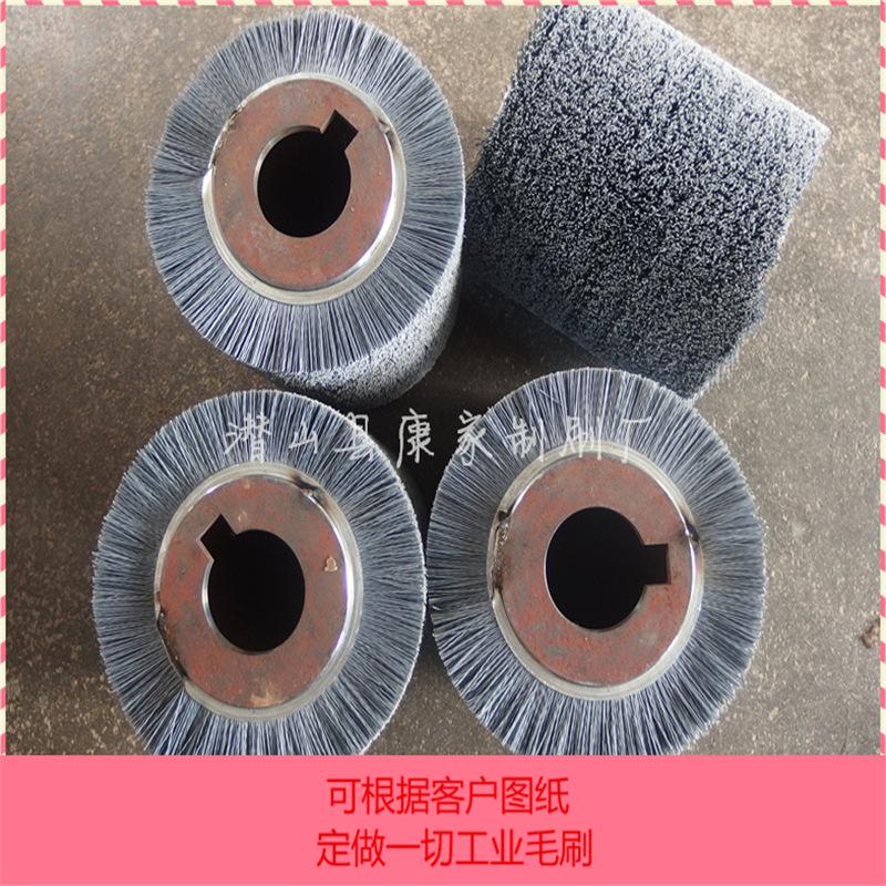 好质量磨料丝毛刷辊定做除毛刺精整抛光磨料丝毛刷辊氧化铝碳化硅