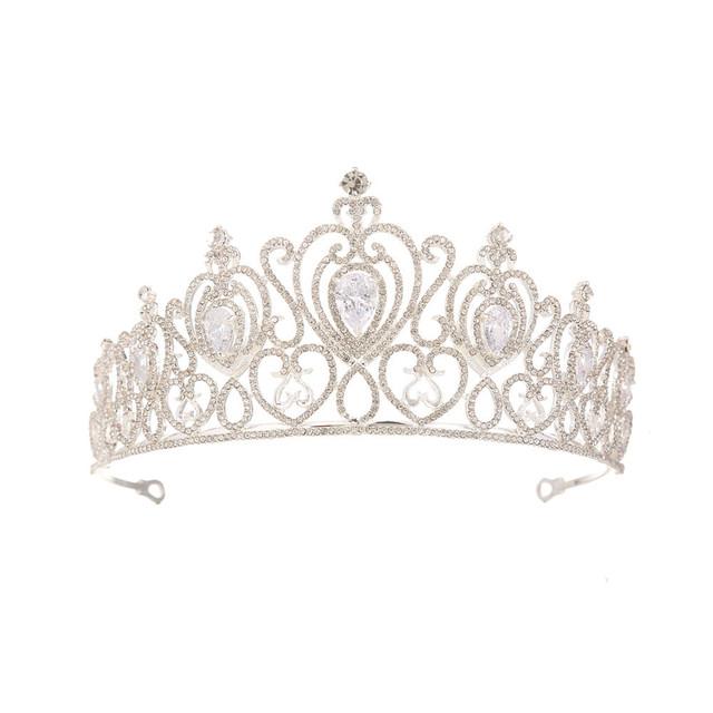欧美2018新款高档新娘锆石皇冠 新娘水钻公主王冠婚纱礼服配饰品