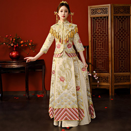 Heavy winter new show Wo suit diamond bride wedding dress Chinese hand embroidery show Wo clothing