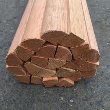 木线条木装饰线条封边边框平板线半圆形4/1线背景墙中试欧式