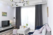柯桥厂家直销高遮光尼丝纺卧室客厅窗帘遮光布