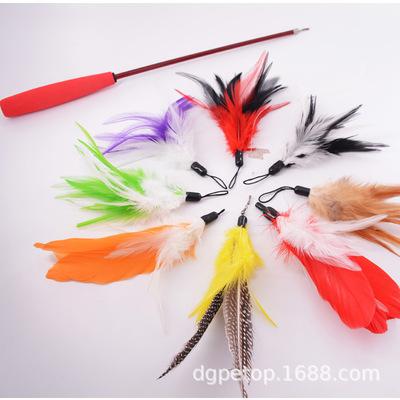 宠物貓玩具猫咪玩具猫猫三节伸缩逗猫棒羽毛替换头三节戏猫杆用品