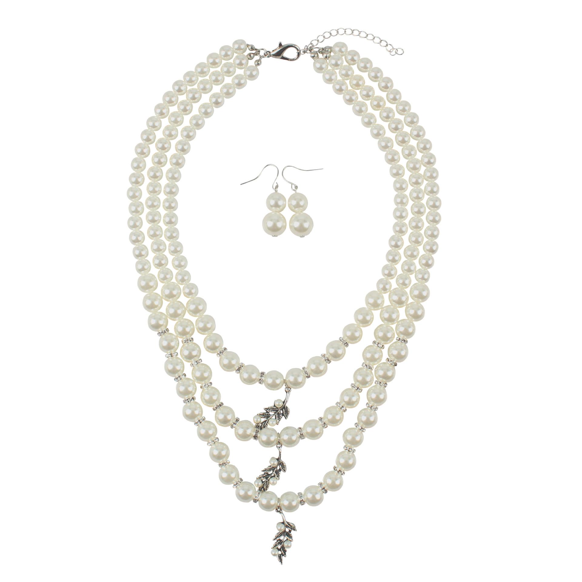 Beads Fashion Geometric necklace  creamywhite NHCT0346creamywhite