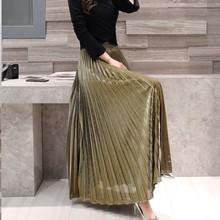 2018春装新款韩版时尚百搭长裙气质显瘦高腰纯色裙打底裙一件代发
