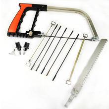 迷你多功能魔术锯弓韩国小型木工12件套钢锯架万能锯拉花万用手锯