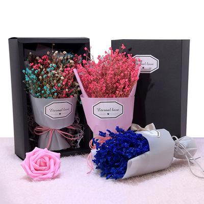 婚礼695干花小花摆件拍照道具活动礼品礼物满天星花束礼盒