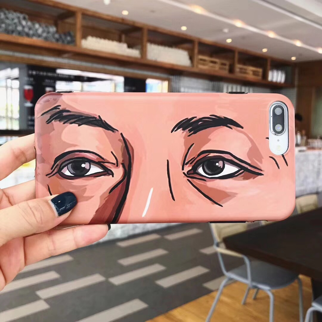 Xiuai male god confirmed eyes 6splus Apple x mobile phone shell iPhone7/8plus personality entrepreneurial soft cover