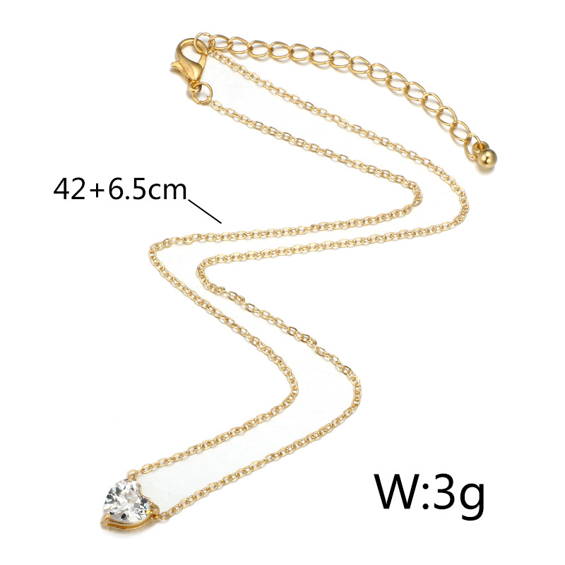 Alloy Simple Sweetheart necklace(Golden) NHGY1776-Golden