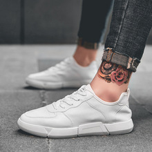 Literary white shoes men's summer tide shoes new wild casual shoes sports low to help white shoes men