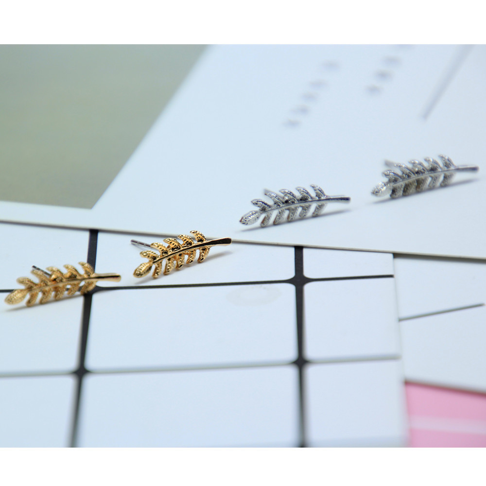 Simple leaf metal ear cuff earrings NHPF141119