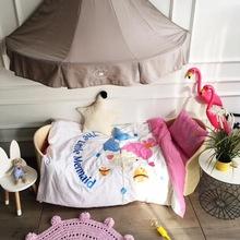 高端全棉加厚磨毛婴儿床上用品四件套幼儿园儿童单人床品套件包邮