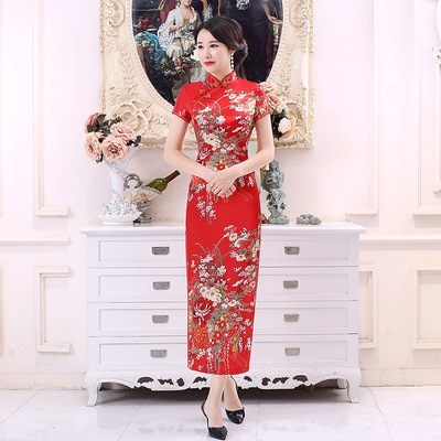 Chinese Dress Qipao for women national style long cheongsam with national characteristics and high definition digital printing cheongsam skirt