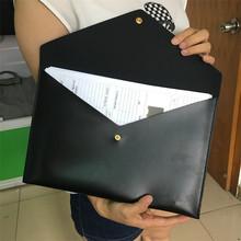 现模批发A4文件袋PU皮革按扣文件袋 信封式文件袋 档案袋