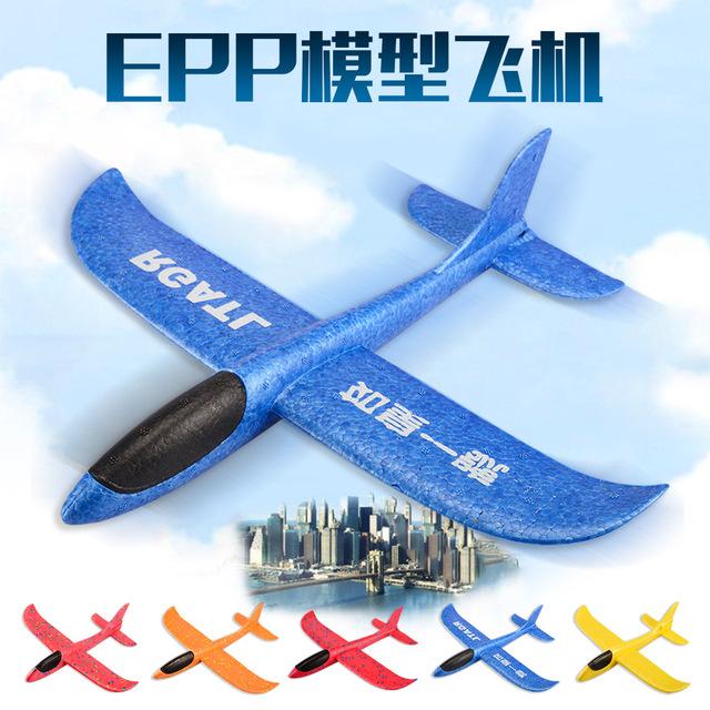 Ngoại thương với tay ném bọt nhẹ Máy bay đóng thế 48cm ném tàu lượn EPP đồ chơi chống rơi Mô hình hàng không