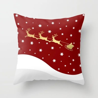 18'' Cushion Cover Pillow Case Christmas man peach skin moose lovely pillow living room sofa comfortable cushion pillow