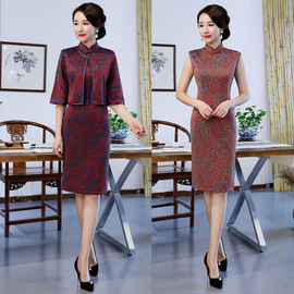 Autumn and winter Chinese style improved cheongsam women's retro fashion daily self-cultivation mother dress dress improvement cheongsam