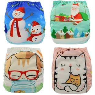 New positioning digital printing, waterproof and breathable cloth diapers, brushed cloth, soft and comfortable, baby cloth diapers