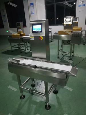 面膜在线自动检秤 自动称重分选不合格品 重量检测剔除机生产厂家