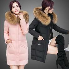 棉服女士中款加厚韩版冬天外套2018新款学生棉袄毛领棉衣一件代发