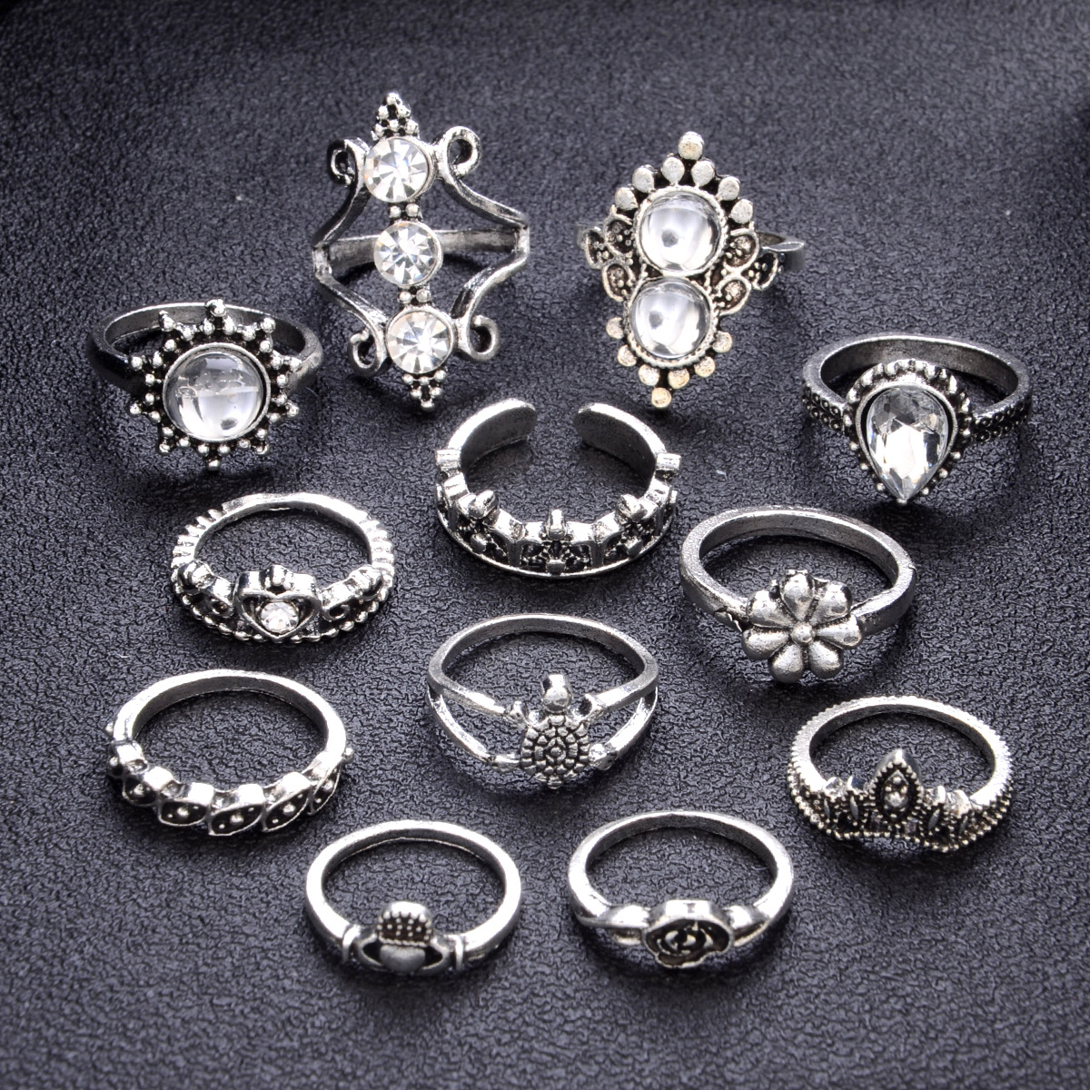 Ring set with 13 sets of gems NHPV175153